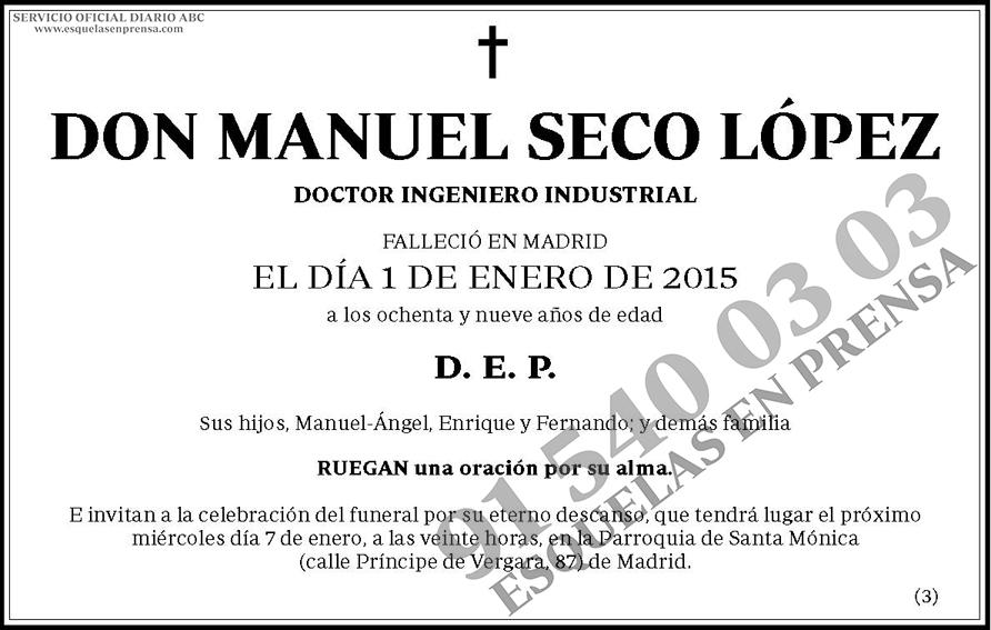 Manuel Seco López